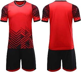 Conjunto de Pantalones de Jersey de fútbol Chándal de Atletismo para Correr Niños Jóvenes Pantalones Cortos Negros Manga Larga