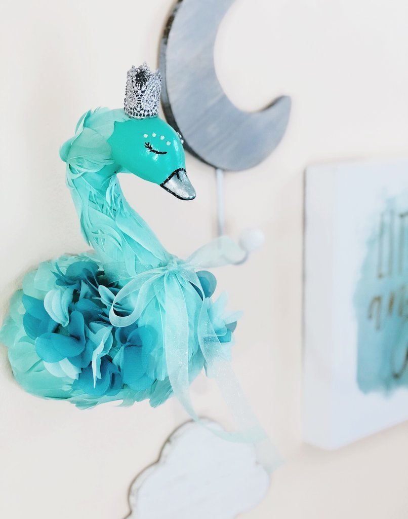 WHIMSY WONDERLAND CO. Faux Taxidermy Wall Swan Decor Head Cheap mail order price sales