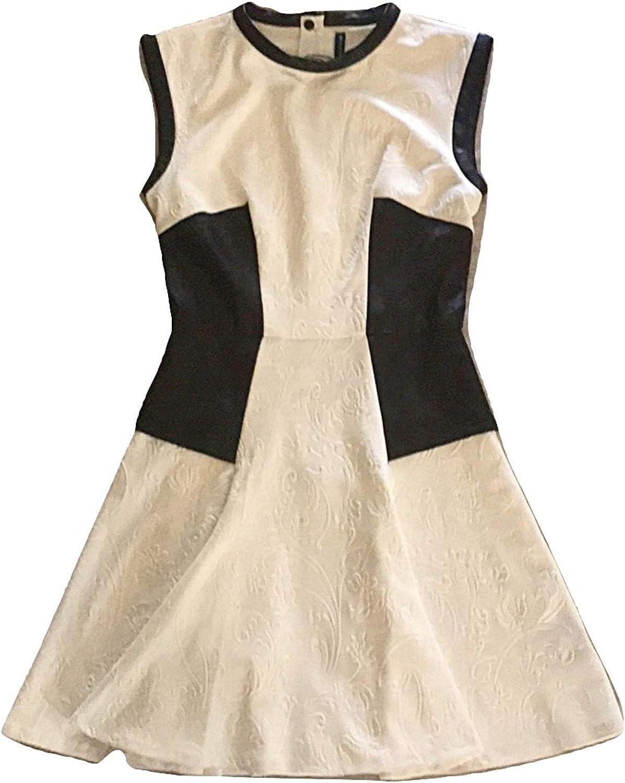 Walter Baker Women's Sleeveless Floral Embossed A-line Dress Off White
