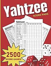Yahtzee Score Pads: 2500 Score Games Large Pads (Yahtzee Game)