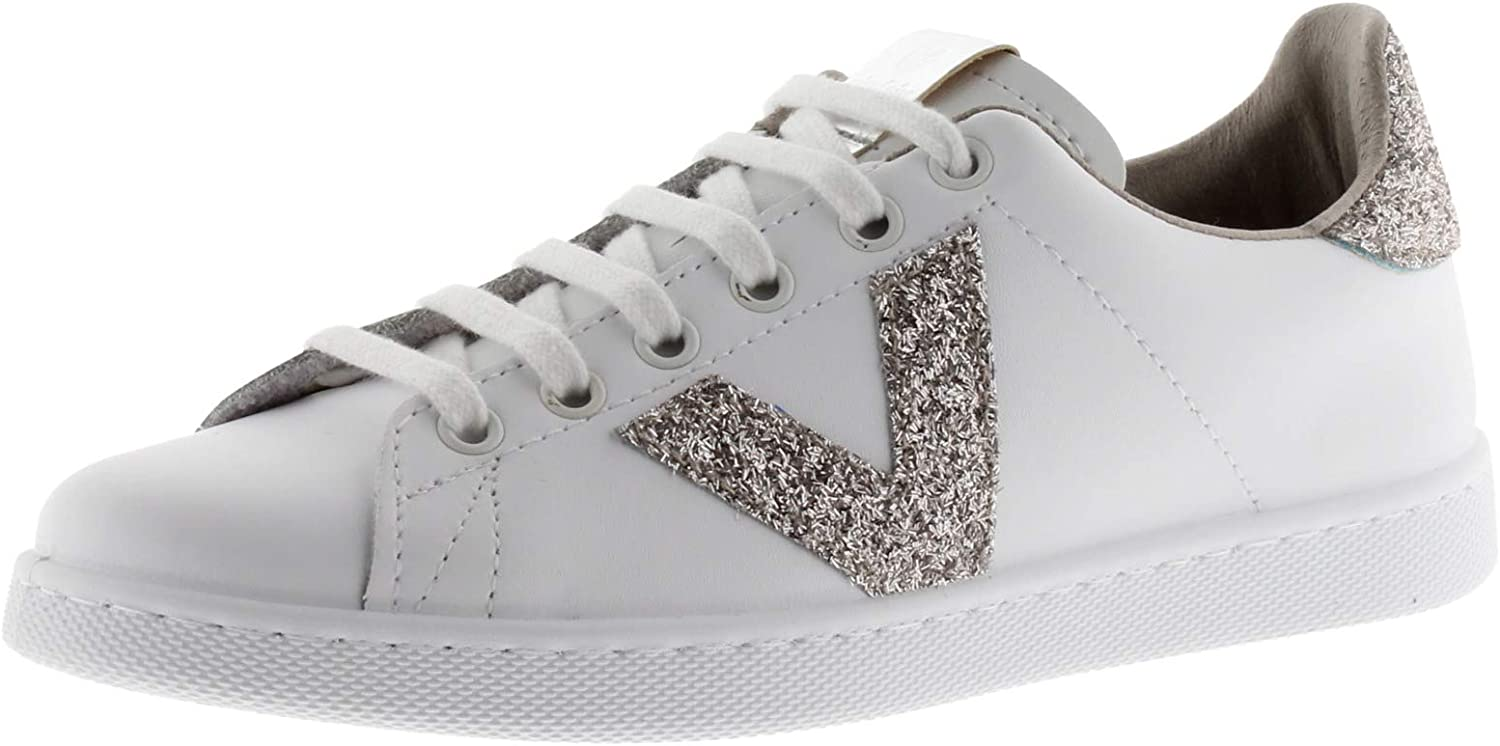 victoria Unisex Adults Tenis Glitter Deluxe Safety and trust Piel Trainers
