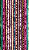 Veracruz Toalla de Playa Grande de 100x170 cm, Tejido Algodón Egipcio 100%, Multicolor, 100 x 170 cm