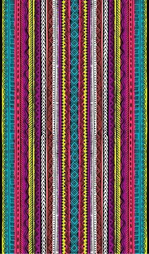 Veracruz Toalla de Playa Grande de 100x170 cm, Tejido Algodn Egipcio 100%, Multicolor, 100 x 170 cm