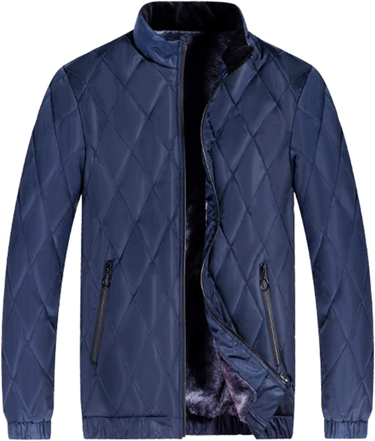 HaoMay Men's Comfy Full Zip Fleece Lined Winter Jacket Outwear