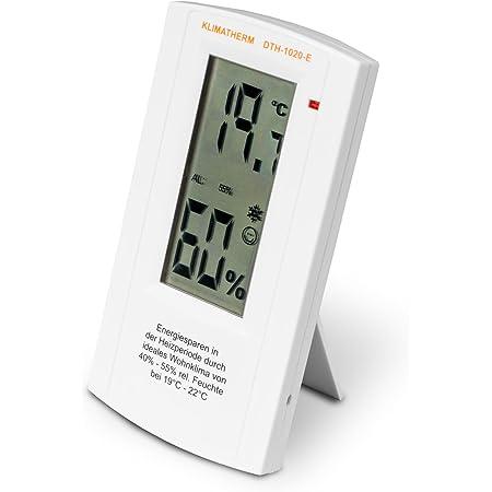 Klimatherm Digitales Thermometer Hygrometer Schimmel Vorsorge Energie Sparen Wohnklima Messgerät Dth 1020 E 3 Jahre Garantie 1 Garten
