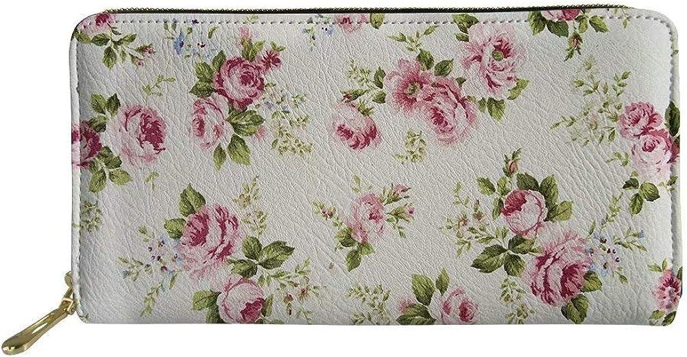 Youngerbaby Vintage Luxury Ladies Store Leather Wallet Pri Zipper with Flower