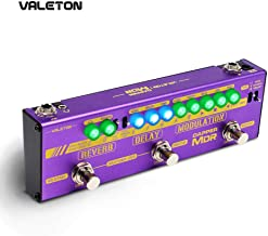 Valeton Multi Effects Guitar Pedal Dapper MDR of Reverb Delay Chorus Phaser Vibrato Tremolo Flanger Digital Analog Tape Delay Room Hall Plate Reverb for Indie Ambient Psychedelic Post Rock Retro Alter