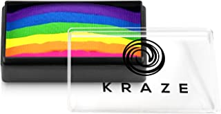 Kraze FX Dome Stroke - Bright Neon (25 gm), Water Activated, Professional UV Glow Blacklight Reactive Face and Body Painti...