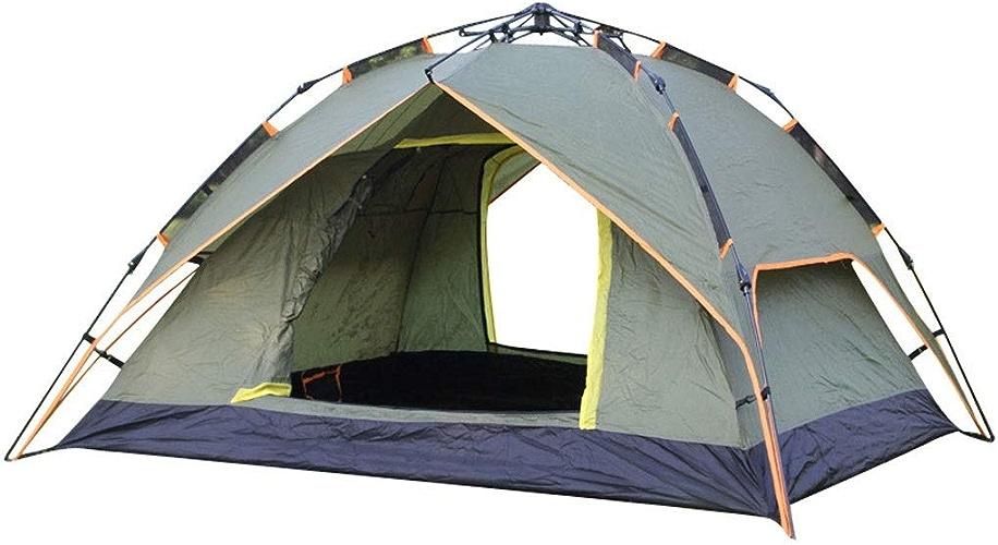 ME- Tente de Camping Hewolf 3-4 Personnes étanche [Configuration Rapide] Tente de Plage familiale 3 Saisons Prougeection UV avec Sac de Transport