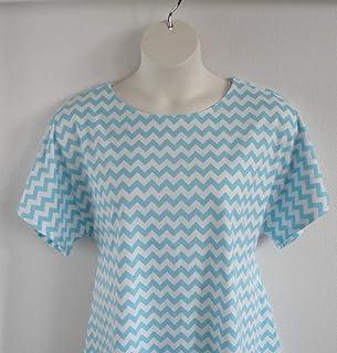 Shoulder ~ Breast Cancer ~ Mastectomy//Hospice//Stroke//Adaptive Clothing//Breastfeeding Style Sara ~ Black//White Aztec Chevron Shoulder Shirt Post Surgery Shirt