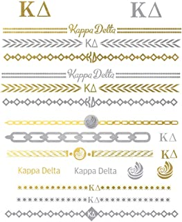 Kappa Delta Temporary Tattoos | Skin Safe | MADE IN THE USA| Removable
