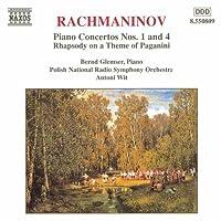 Piano Ctos 1 & 4: Rhapsody on a Theme of Paganini by RACHMANINOV (2000-08-23)