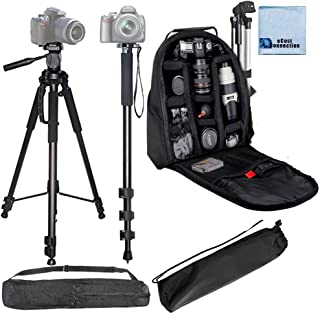 DSLR Includes 72 Tripod w//Carrying Case A Series A77ii a7s A77 NEX Flexible Gripster Tripod A65 a5100 a6000 a5000 3 Piece Tripod Package for Sony Cameras NEX-5 a3000 72 Monopod