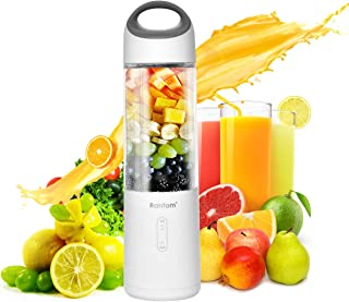 Personal Blender,Rantom Smart Smoothies Blender With USB Durable Battery&6pcs Powerful Motor Blades for Baby Foods,Smoothies and Shakes(ROHS,FDA&BPA free)