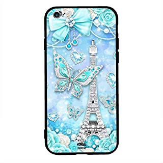 iPhone 6 Plus/ 6s Plus Case Cover Eiffel Tower and Butterfly, Moreau Laurent Protective Casing Premium Design Covers & Cases