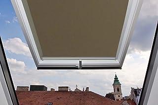 Cortina para ventanas Velux GGU/GPU/GHU/GTU/GGL/GPL/GHL/GTL/GEL (38,3 x 74 cm, con raíles laterales de aluminio), marrón claro, 306-78x118
