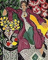 油絵 数字キットによる絵画デジタル絵画油絵 数字キットによる絵画手塗り DIY絵 デジタル油絵塗り絵 - 成熟した女性 40x50cm (フレームレス)