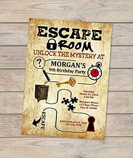 Escape Room Birthday Invitation, Escape Theme Invitation, Escape Mystery Party Invitation, Escape Room Invite