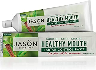 JASON Healthy Mouth Tartar Control Paste, Tea Tree Oil and Cinnamon, 4.2 Ounce (Pack of 1)