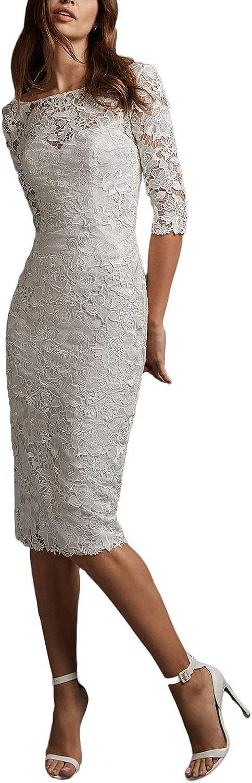 Yakey 2019 Sexy Wedding Bridal Dresses Sheath Half Sleeves Beach Lace Bridal Gowns