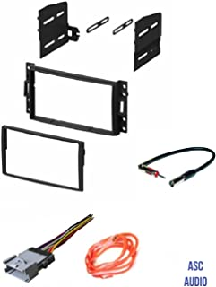 ASC GM510 Double Din Car Radio Stereo Dash Kit, Wire Harness, and Antenna Adapter for some GM Vehicles - Compatible Vehicles Listed Below,
