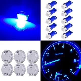 cciyu Stepper Motors X27.168 Instrument Repair Speedometer Gauge Cluster W T5 Wedge Bulbs (6 Pack Stepper Motor with 10Pack Blue T5 LED Bulb)
