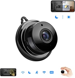 Mini Spy Hidden Camera,Isotect HD 720p Nanny Cam,Wireless WiFi Security Camera for Home Office with Two-Way Audio,Night Vision and Motion Detection.