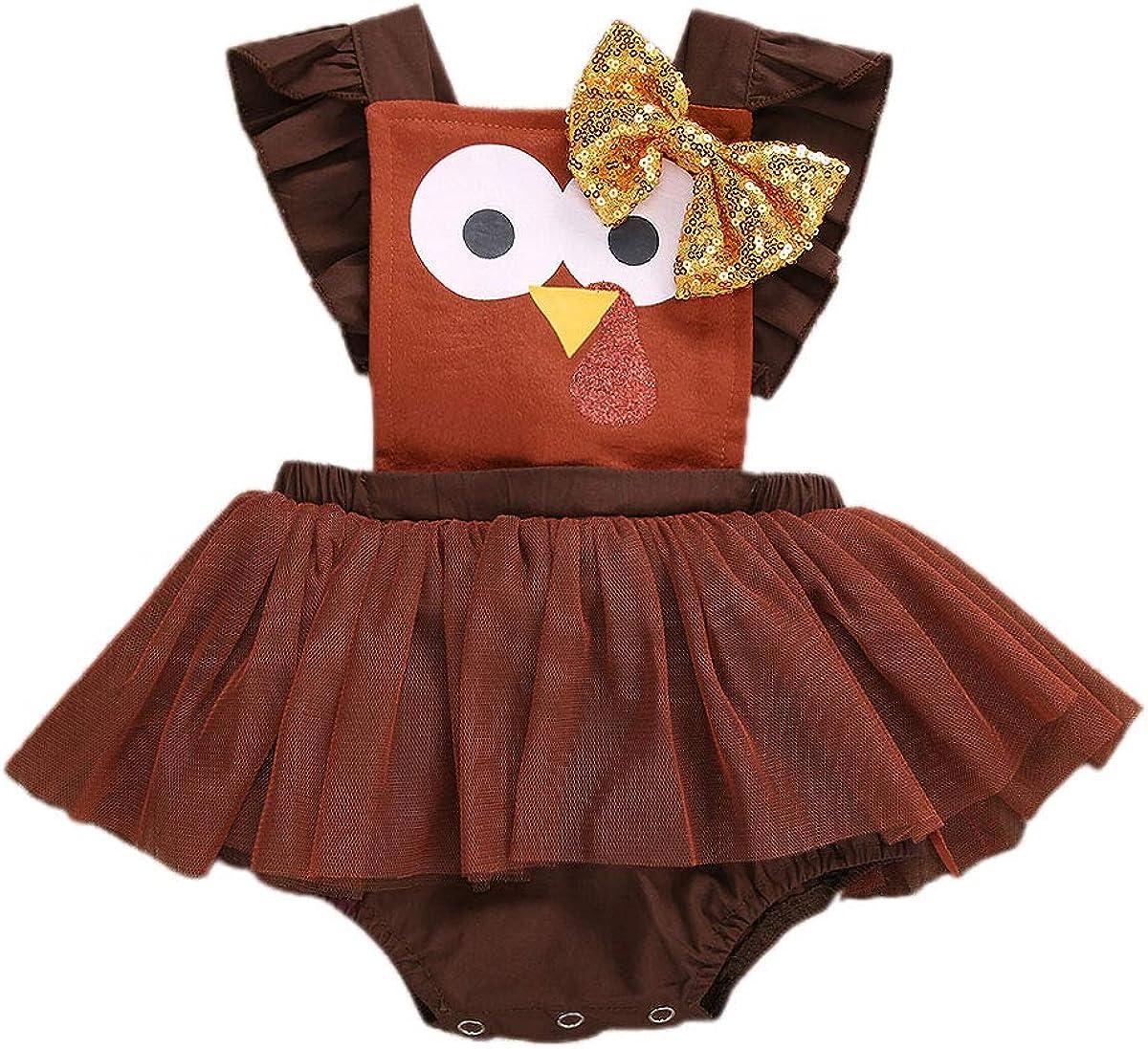 Max Over item handling 50% OFF Newborn Baby Girl Thanksgiving Romper Turkey Sleeveless O Halter
