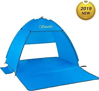 Venustas Beach Tent Beach Umbrella Outdoor Sun Shelter Canopy Cabana UPF 50+ Sun Shade Easy Set Up 3-4 Person, Lightweight and Easy to Carry