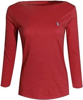Womens 3/4 Sleeve Boat Neck T-Shirt
