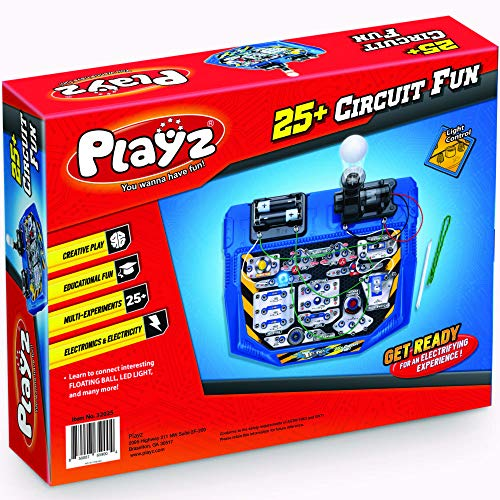 Resistance 10 12 /& Magnetic Science 13+ 9 11 Playz Electrical Circuit Board Engineering Kit for Kids with 25+ STEM Projects Teaching Electricity Voltage Currents Gift for Children Age 8