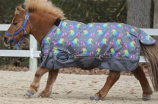 Chicks Saddlery Showman Unicorn Print 1200 Denier Waterproof Turnout Sheet - Pony