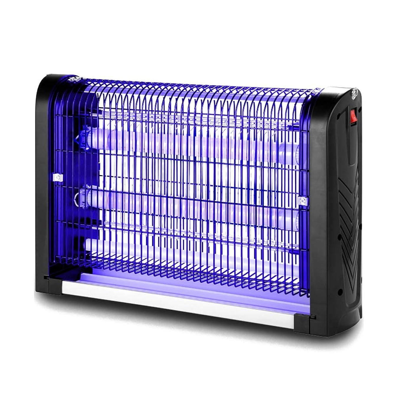 カーフ大騒ぎ彼ZEMIN 蚊ランプ電撃殺虫灯 誘虫灯 家庭 差し込む LEDチューブ 透過性 引き出しタイプ ストレージ お手入れが簡単 4サイズ (色 : ブラック, サイズ さいず : 2X4W)