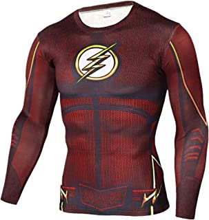 Superhero Shirt Compression Sports Shirt Runing Fitness Gym Short/Long Sleeve Base Layer