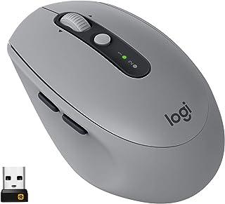 Logitech M590 Ratón Inalámbrico Silencioso, Multi-Dispositivos, 2,4 GHz o Bluetooth con Receptor USB Unifying, Seguimiento...