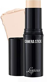 Camera Stick Foundation by Luscious Cosmetics - Full Coverage Cream Foundation - Easy To Blend & Hydrating Formula - Vegan & Cruelty Free Makeup (Shade - 0 Ivory) - 0.49 oz