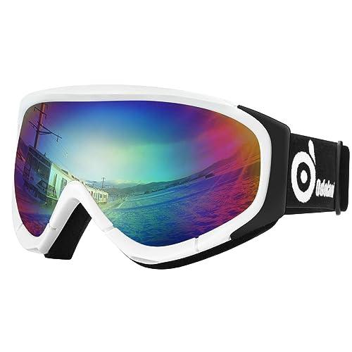 eaab9c9f68 Odoland Snow Ski Goggles S2 Double Lens Anti-Fog Windproof UV400 Eyewear  for Adult and