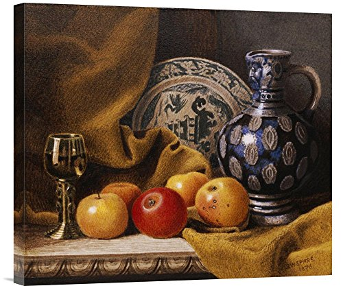 Global Gallery Budget GCS-267326-22-142 Benjamin Walter Spiers Still Life with A Jug Gallery Wrap Giclee on Canvas Wall Art Print