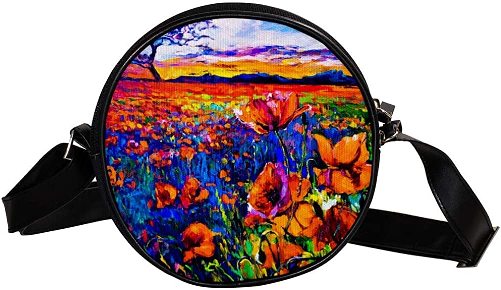 low-pricing Coin Purse For Kids 2021 Flower Field Gir Mini Painting Bag Crossbody