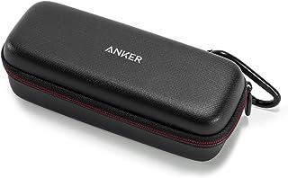 Anker SoundCore & SoundCore 2 Draagtas Box Kunstleer Case, Premium Bluetooth Speaker Beschermtas, Hoes Cover (zwart)