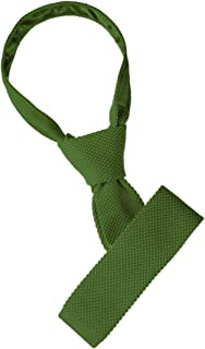 Allegra K Men's Knitted Tie Self-Tied Square Solid Color Casual Skinny Neckties