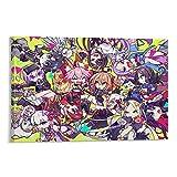 Anime-Charakter-Design, Kunstdruck auf Leinwand, Poster,