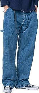 Jearey デニムカーゴパンツ ジーンズ メンズ ヴィンテージ ストレッチデニム ブラスト ペインター デニム パンツ ビルバン ロング丈 ボトムス アメカジ 大きいサイズ おしゃれ かっこいい