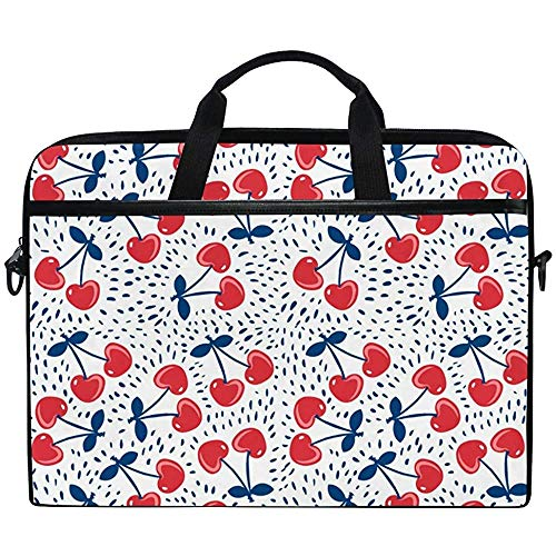 Cute Cherry Pattern Laptop Bag Case Sleeve Briefcase Waterproof Shoulder With Strap For Ultrabook Notebook 14 Inch