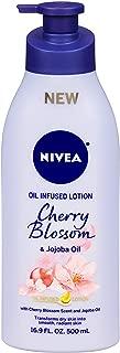 Nivea Lotion Oil-Infused Cherry/Jojoba Oil 16.9 Ounce Pump (500ml) (2 Pack)