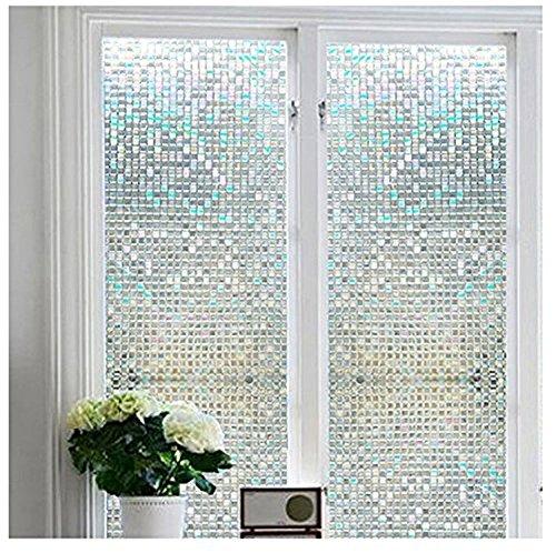 Niviy Premium NoGlue 3D Static Decorative Privacy Window Film Vinyl Window Clings177Inch by 787Inch 1 Roll