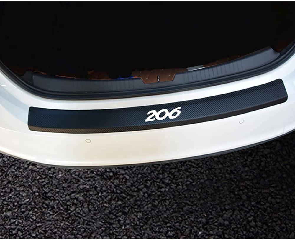 NBKLS Auto OFFicial site Carbon Max 64% OFF Fiber Rear Bumper Trunk Si Protector Door
