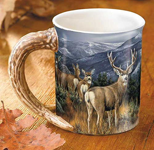 Last Glance - Mule Deer Sculpted Mug by Rosemary Millette