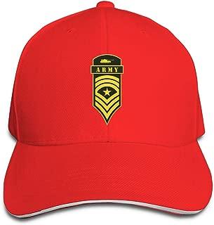 Women&Men Military Ranks and Insignia Stripes and Chevrons Trucker Baseball Cap Adjustable Peaked Sandwich Hats