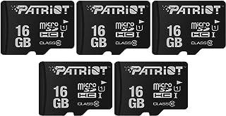 Patriot Memory パトリオットメモリ MicroSDHCカード 16GB 5枚セット スマホ、タブレット、ドライブレコーダー、Class10 UHS-I対応